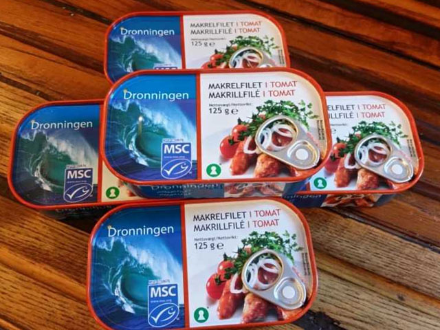 Smorrebrod The Queen (DRONNINGEN) MSC Mackerel in Tomato sauce 125g