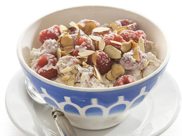 Smorrebrod Granola with Yogurt or Honey and Fresh Fruits