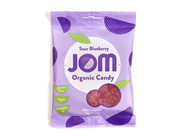 Smorrebrod JOM Organic Candy Sour Blueberry