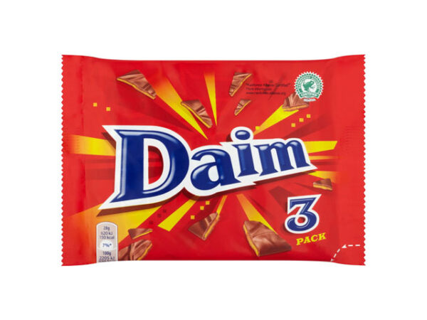 Smorrebrod Daim Chocolate Bars 3 Pack