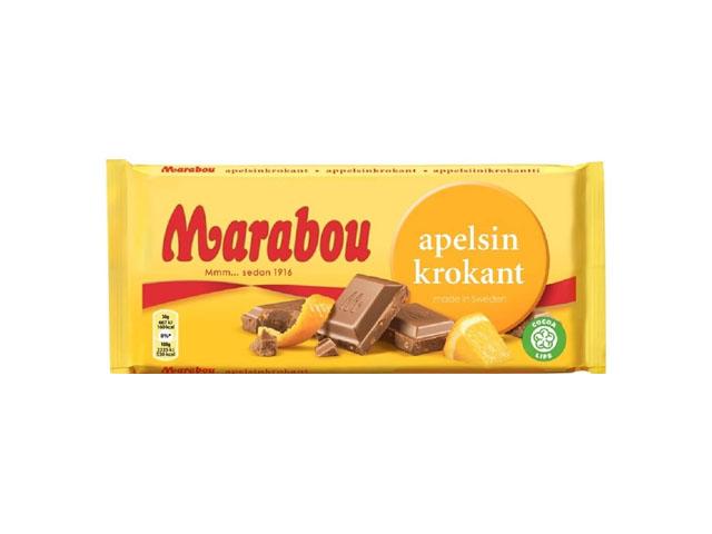 Smorrebrod Marabou Orange Chocolate 250gr