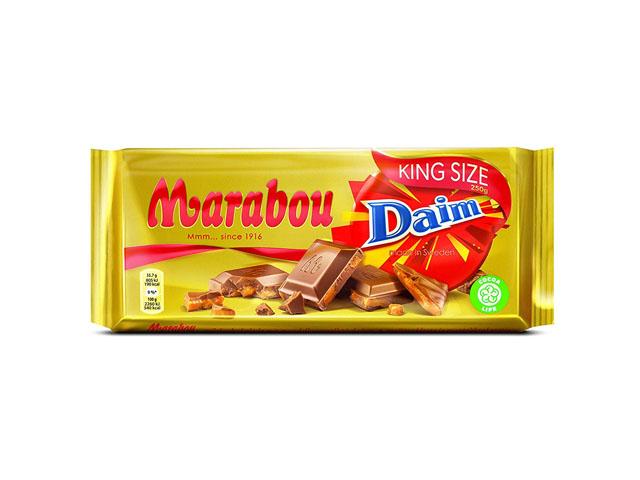 Smorrebrod Marabou Daim Chocolate 250gr