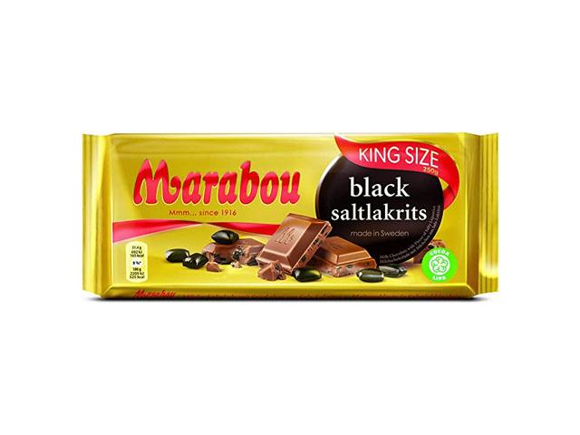 Smorrebrod Marabou Black Saltlakrits 250gr