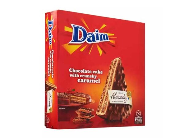 Smoorebrod DAIM Almond cake chocolate and crunch 400gr. Gluten Free.