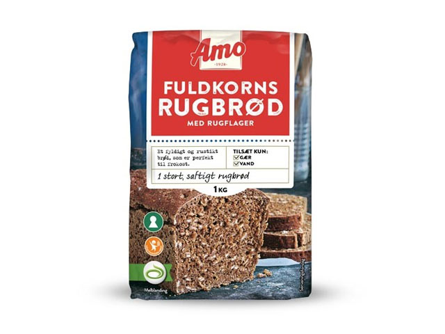 Smorrebrod Amo Fuldkornsrugbrød – Rye Bread Mix 1kg