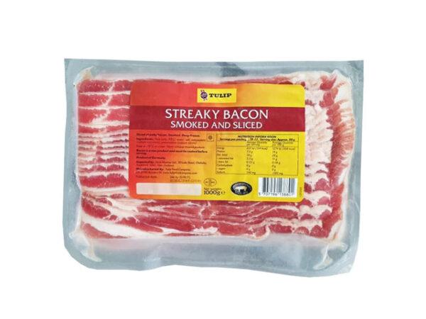 Smorrebrod Tulip Pork Bacon Streaky Sliced Frozen